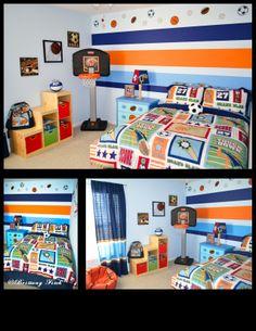 Kid's sports theme bedroom