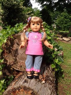 18 inch Doll/ American Girl Doll 3 Piece by ToFastenWithStitches, $18.00