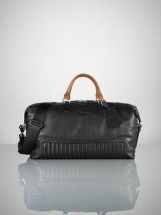 Quilted Leather Duffle Bag - Ralph Lauren Bags & Business - RalphLauren.com