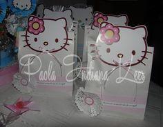 #Bolsitas de #papel blanca para #golosinas #personalizadas con #Kitty
