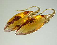 30.90ct AAA Maderia Citrine Earrings by MustHaveEarrings on Etsy