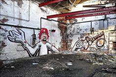 Graffiti in a derelict warehouse in Sheffield  #socialsheffield #sheffield #design #streetart #graffiti #urbanex #art