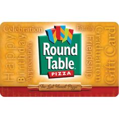 Round Table Pizza® Gift Card - $25 $50 or $100 - Email delivery Happy Birthday, Birthday Ideas, Gift Cards, Pizza, How To Apply, Delivery, Gift Table, Gifts, Ebay