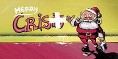 Ilustración Merry Christmas Pantuás Diseño Gráfico