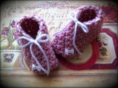 Cute  baby girl crochet  sleepers :)