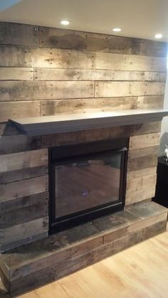 Pallet Board Fireplace Surround