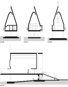 Seashore Chapel, Vector Architects, Sections