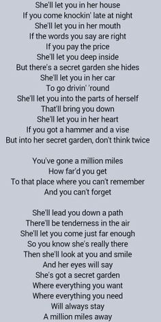 Bruce Springsteen Secret Garden Probably My Favorite Springsteen Song You Are What You