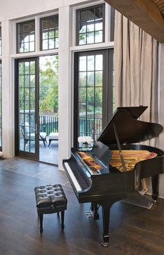 Home Design, Fascinating Lake House Interior Furniture Old Piano On Living Room ~ Luxury Lake House with Ancient House Design Grand Piano Room, Steinway Grand Piano, Piano Living Rooms, Baby Grand Pianos, Paris Home, Bar Restaurant, Transitional Living Rooms, Luxury Interior Design, My Dream Home