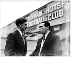 Danny Blanchflower and Alf Ramsey, 1954