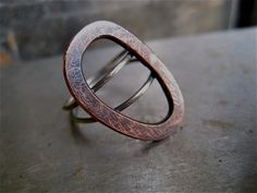 Tumbleweed Ring Copper Abstract Design with by UnionStudioMetals