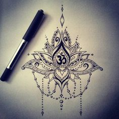 """""""First ever lotus ...done? (when do you know to stop drawing?!?!) in the practice for a mandala lotus tatt. #practicemakesperfect #freehand #designyourown…"""""""