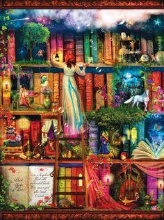 Treasure Hunt Bookshelf Jigsaw Puzzle