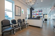 Salon Interiors Presents The Toni U0026 Guy In Hoboken, NJ As Part Of Our Past  Work Photo Galleries. This Salon Furniture Features High Gloss White Double  Sided ...