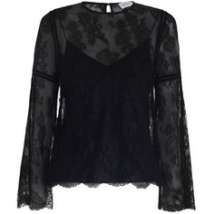 ZIMMERMANN Master Lace Blouse ($995) ❤ liked on Polyvore featuring tops, blouses, bell sleeve tops, lace camisole tops, floral cami, lace trim camisole and lace top
