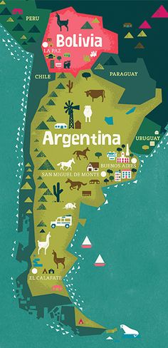 Tea Collection's destination map : Argentina + Bolivia