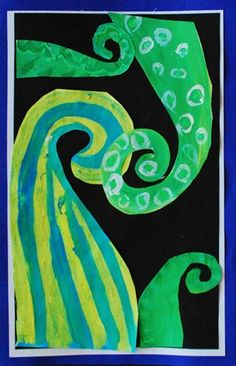 Koru Painting: Warm and Cool Colors