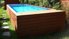 A beautiful house with a large swimming pool is something everyone dreams of once in a while. If the house is already checked from your list, all you need to do is take care of the swimming pool part. But what if a classical swimming pool is not an option Shipping Container Swimming Pool, Diy Swimming Pool, Swiming Pool, My Pool, Shipping Container Homes, Shipping Containers, Piscina Diy, Piscina Intex, Dumpster Pool
