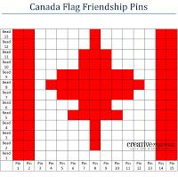 Canada Day Crafts for Kids - Canada Flag Friendship Pins