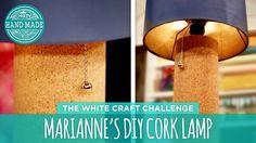 Marianne's DIY Cork Lamp - HGTV Handmade White Craft Challenge