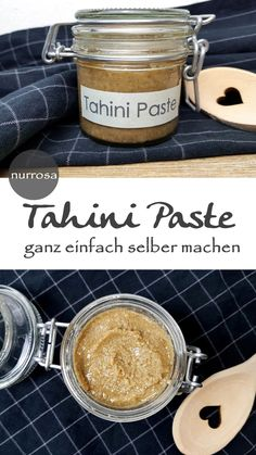 Tahini Paste selber machen – nurrosa - New Ideas Basic Dough Recipe, Tartiflette Recipe, Cookie Recipes, Vegan Recipes, Homemade Tahini, Tahini Paste, Everything Bagel, Baking Ingredients, Pulled Pork