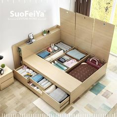 Image result for japanese tatami bed compartment