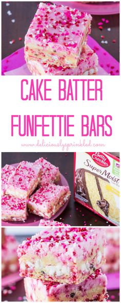 Cake Batter Funfetti Bars   deliciouslysprinkled.com   #bettycrocker #recipe
