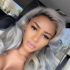The how to steps for cool grey hair: dying your hair bleach blond, toning out the orange spots, and then using shades of violet dye to give you a nice, grey hue. Grey Hair Looks, Dying Your Hair, Hair Dying Ideas, Hair Ideas, Glamorous Hair, Hair Supplies, Natural Hair Styles, Long Hair Styles, Love Hair