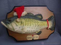 Divertida decoración navideña raro pez cantante melodía de navidad