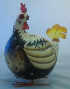 Rocking Rooster Brown Chicken Ornament(Large)HB
