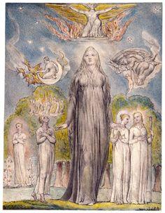 Melancholy (Illustration to Milton`s L`Allegro and Il Penseroso) - William Blake