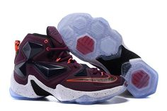 Nike Lebron 13 Mens Purple Red Orange White Black