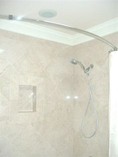 Marble Tile Crown Molding Around Tub