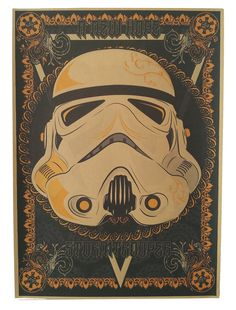 Mask - Star wars retro poster - vintage wall decals