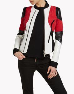 leather neoprene jacket ropa de abrigo Mujer Dsquared2
