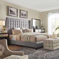 61 lovely farmhouse master bedroom ideas 3 ⋆ All About Home Decor Simple Bedroom Design, Master Bedroom Design, Home Decor Bedroom, Modern Bedroom, Bedroom Ideas, Bedroom Designs, Contemporary Bedroom, Master Suite, Bedroom Romantic