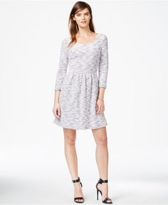 Maison Jules Textured Space-Dye Sweater Dress, Only at Macy's - Dresses - Women - Macy's