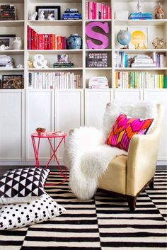Eye For Design: Decorating With Bright Colors In White Interiors........Trendy In 2014.