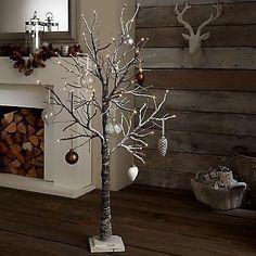 BEAUTIFUL PRE-LIT LED TWIG TREE 125cm (4ft) CHRISTMAS TREE