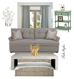 """""""Untitled #346"""" by tulistyles ❤ liked on Polyvore featuring interior, interiors, interior design, home, home decor, interior decorating, Universal Lighting and Decor, Niche Modern and Arteriors"""