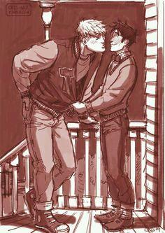 "More of ""Jock and Nerd"" BY: cris-art so cute! Marvel Comics, Marvel Art, Cute Gay Couples, Cute Anime Couples, Wiccan Marvel, Character Art, Character Design, Romance Art, Young Avengers"