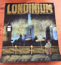 Phenomenal Londinium poster, oil pastel on felt made for me by Aida for Whedonverse 9 swap
