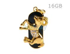 16G Gorgeous Aries Design USB Flash Drive (Golden) | Nuway Shopping