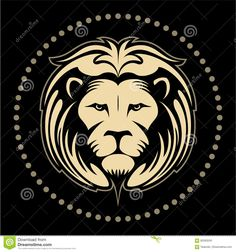 Lion Face, Lion Head In The Circle, Vector Logo Stock Vector - Illustration of wildlife, illustration: 85283240 Lion Images, Lion Pictures, Art Pictures, Lion Head Logo, Lion Logo, Pallet Countertop, Painting Logo, Jungle Lion, Lion Drawing