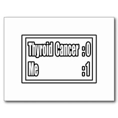 Thyroid Cancer Scoreboard Postcards