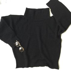 Funnel Neck, Knits, Knitting, Sweatshirts, Instagram Posts, Sweaters, Black, Fashion, Moda
