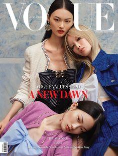 Fernanda Ly, Hyun Ji Shin, Cong He, Vogue Magazine January 2020 Cover Photo - Hong Kong Vogue Magazine Covers, Fashion Magazine Cover, Fashion Cover, Vogue Covers, V Magazine, Paper Magazine Cover, Digital Magazine, Vogue China, Vogue Japan