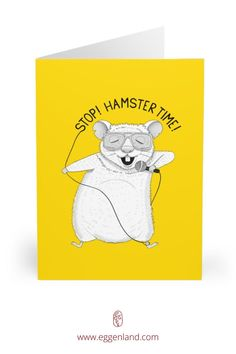 Hamster singing MC Hammer. Semi-glossy finish of these greeting cards adds a beautiful shine while the matching white envelopes create a complete package. This greeting card is from Animal Karaoke collection.