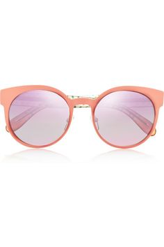 MARC BY MARC JACOBS Round-frame metal and acetate mirrored sunglasses