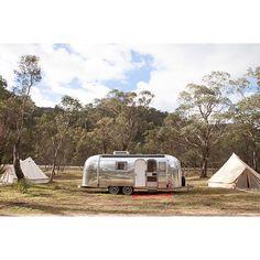 "Our stunning ""Peggy Sue"" Airstream, captured by @Mark Lobo #airstream #airstreamdreams #vintagecaravan #vintagetrailer #glamping #glampingaustralia #glampingoz #happyglamper"